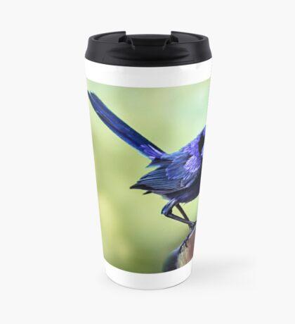 Splendid Blue Fairy Wren Travel Mug