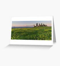 farmhouse pienza Greeting Card