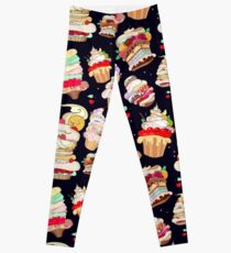 Pattern with the fantastic cakes Leggings
