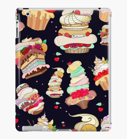 Pattern with the fantastic cakes iPad Case/Skin