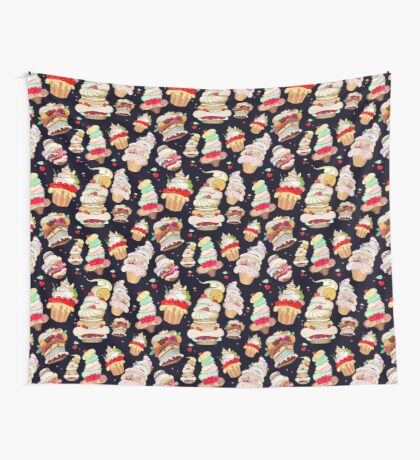 Pattern with the fantastic cakes Wall Tapestry