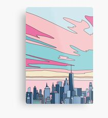 City sunset by Elebea Metal Print
