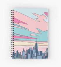 City sunset by Elebea Spiral Notebook