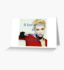 If Lost Return To Gwendoline Christie  Greeting Card