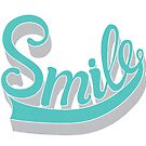 turquoise smile lettering by Vasily