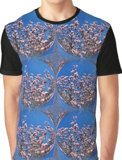 Pink Magnolia Flower Blossoms Abstract Nature Art Graphic T-Shirt