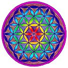 Flower of Life - Trippy by Carrie Dennison