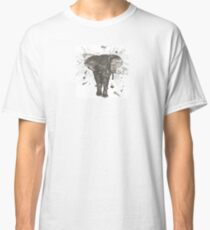 Ink and Brush Elephant Classic T-Shirt