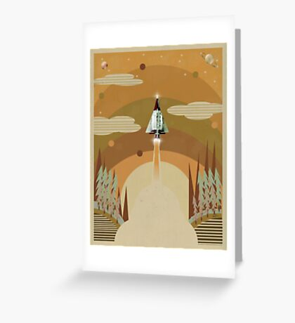 the adventure continues Greeting Card