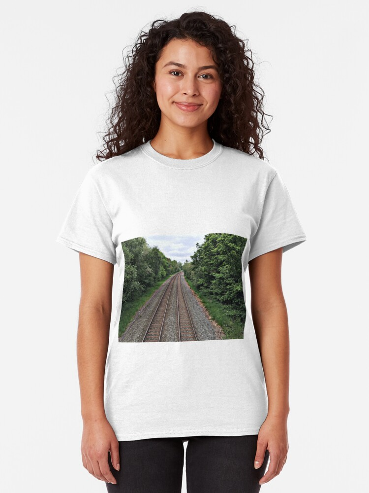 Alternate view of Train in the distance Classic T-Shirt
