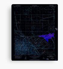 USGS TOPO Map California CA Tupman 301000 1954 24000 geo Inverted Canvas Print