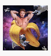 Banana Pratt in the Sky with Pugs Photographic Print