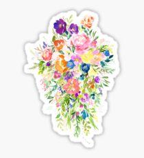 Colorful Large Watercolor Flower Bouquet Sticker