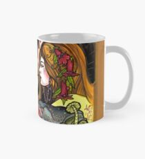 witching hour, witches with toads and pentagram Mug