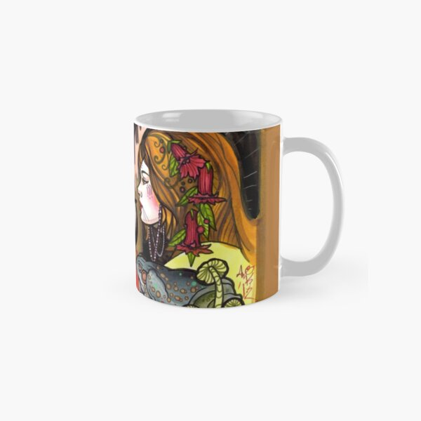 witching hour, witches with toads and pentagram Classic Mug