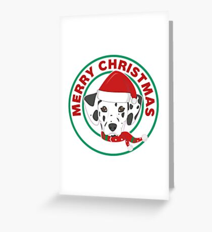 Merry Christmas Dalmatian Dog Greeting Card