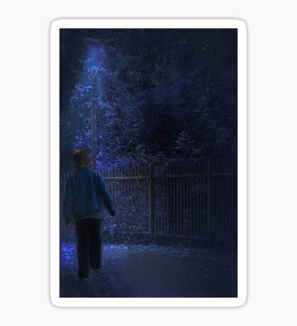 The blue hour Sticker