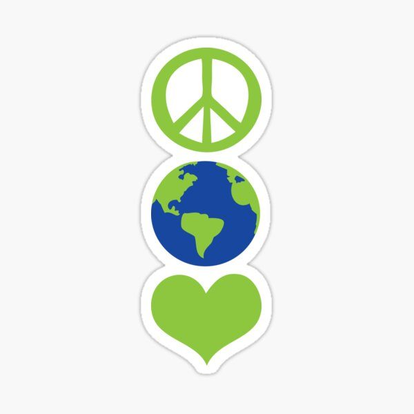 Peace love Earth Sticker