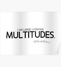 I contain multitudes - walt whitman Poster