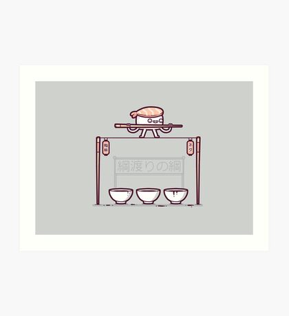 Sushi tightrope Art Print