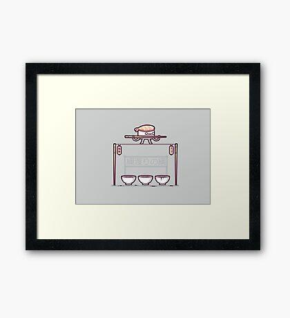 Sushi tightrope Framed Print