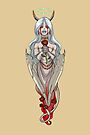 Demoness Demon Girl White Wings and Roses MONSTER GIRLS Series I by angelasasser