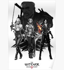 The Witcher 3 Characters Poster