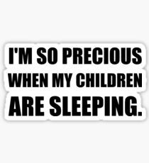 So Precious Children Sleeping Sticker