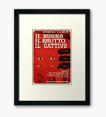 The Good, The Bad and The Ugly (Italian version) Framed Print