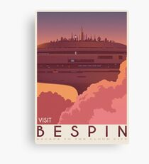 Bespin poster. Starwars retro travel. Cloud city. Illustration. Jedi return. Boba fett art. Movie poster. Vacation poster. Inspired vintage Canvas Print