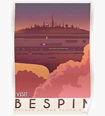 Bespin poster. Starwars retro travel. Cloud city. Illustration. Jedi return. Boba fett art. Movie poster. Vacation poster. Inspired vintage Poster