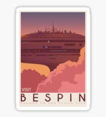 Bespin poster. Starwars retro travel. Cloud city. Illustration. Jedi return. Boba fett art. Movie poster. Vacation poster. Inspired vintage Sticker
