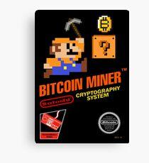 Bitcoin Geek Nintendo Gaming Funny Mario Mashup  Canvas Print