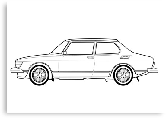 Saab 99 turbo outline drawing canvas prints by rjwautographics saab 99 turbo outline drawing by rjwautographics publicscrutiny Choice Image