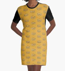 Teach Peace Peace Sign Graphic T-Shirt Dress