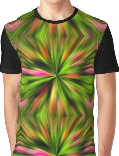 Vibrant Multi Colored Star Abstract Graphic T-Shirt