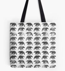 Watercolor bear pattern - Black & white Tote Bag