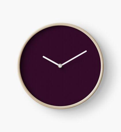 Deep Plum  Weave by Julie Everhart Clock
