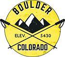 BOULDER COLORADO Ski Skiing Mountain Mountains Skiing Crossed Skis Snowboard Snowboarding 4 by MyHandmadeSigns