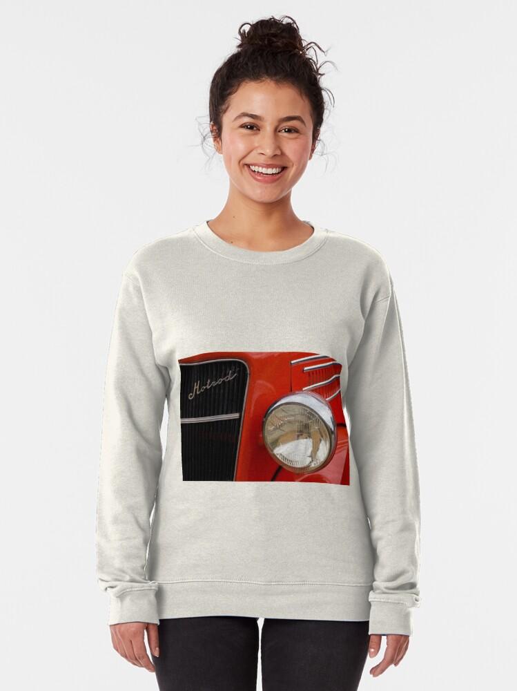 Alternate view of Red Hotrod Head light Pullover Sweatshirt
