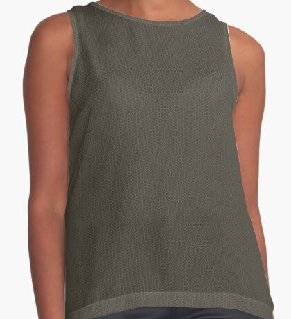 Gray-Taupe Weave Pattern by Julie Everhart Sleeveless Top