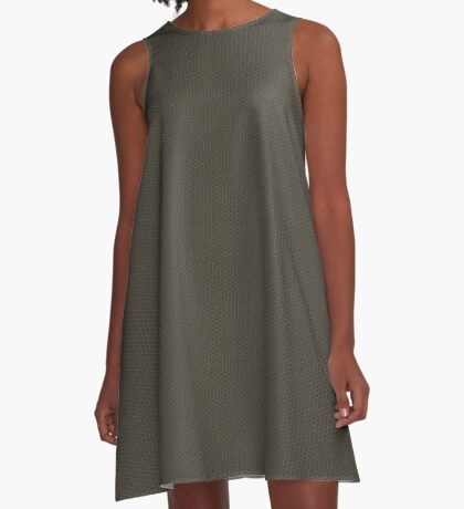 Gray-Taupe Weave Pattern by Julie Everhart A-Line Dress