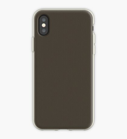 Gray-Taupe Weave Pattern by Julie Everhart iPhone Case