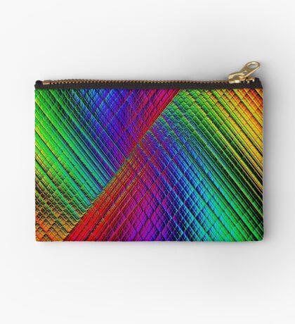 Textured Rainbow Zipper Pouch