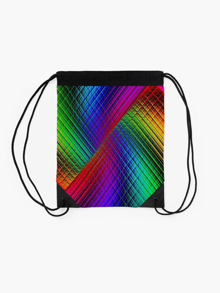 Alternate view of Textured Rainbow Drawstring Bag