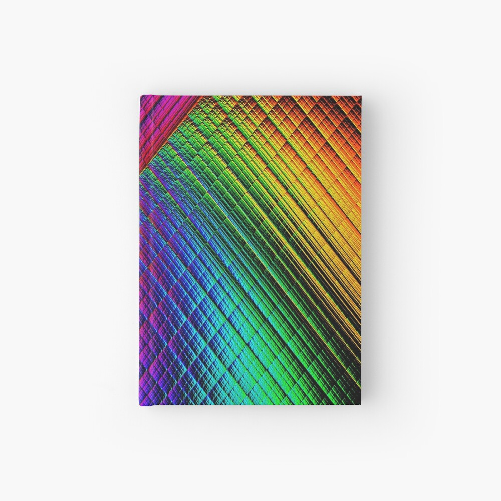 Textured Rainbow Hardcover Journal