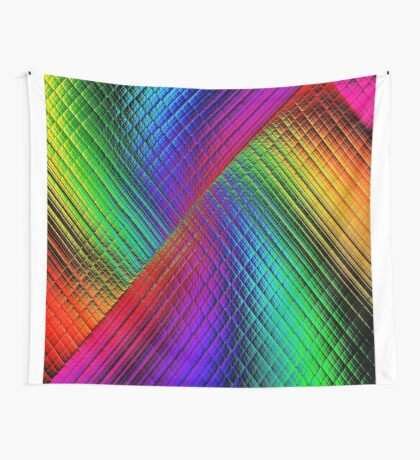 Textured Rainbow Wall Tapestry