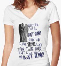 Blink Women's Fitted V-Neck T-Shirt