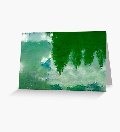 Green Lake - Reflections Greeting Card