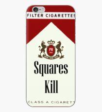 Squares Kill marlboro cigarette label iPhone Case